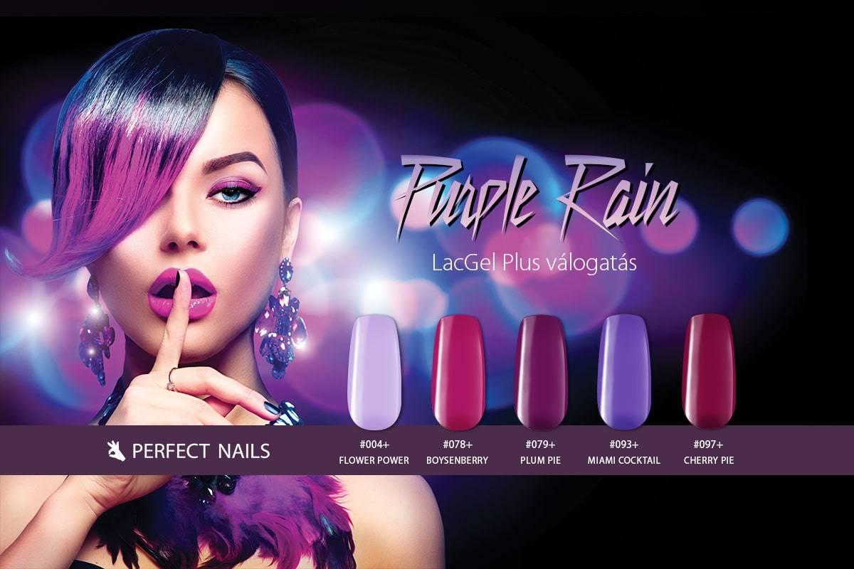 Shh...a lila árnyalatai egy fantasztikus kollekcióban - Purple Rain, az új gél lakk szett