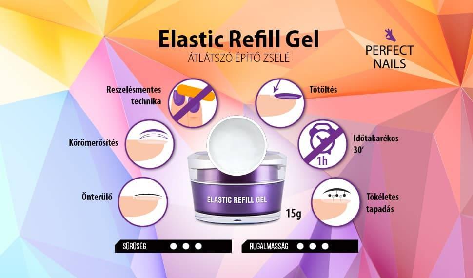 Elastic Refill Gel - Átlátszó Műkörömépítő Zselé