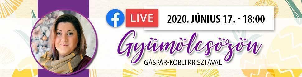 Facebook Live online körmös oktatás Gáspár-Köbli Krisztával