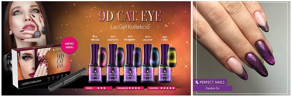 LACGEL CAT EYE C016 8ML GÉL LAKK - FUCHSIA - 9D