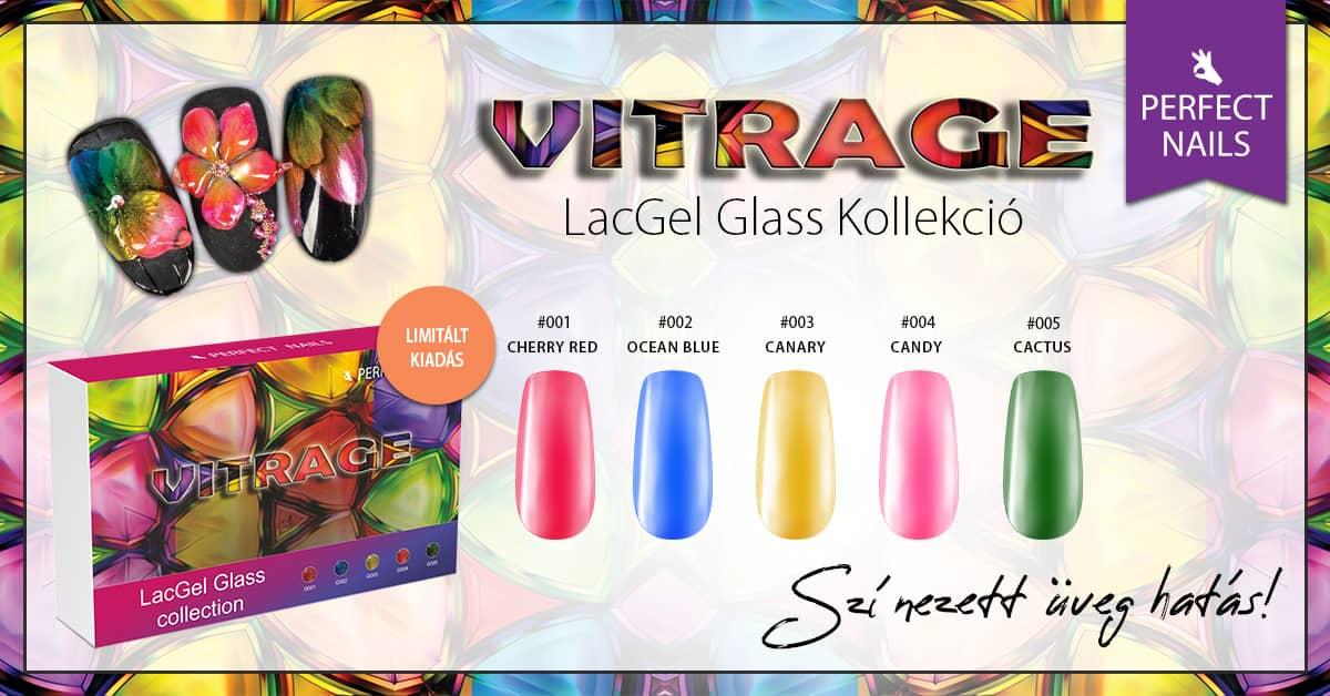LACGEL GLASS VITRAGE GÉL LAKK SZETT