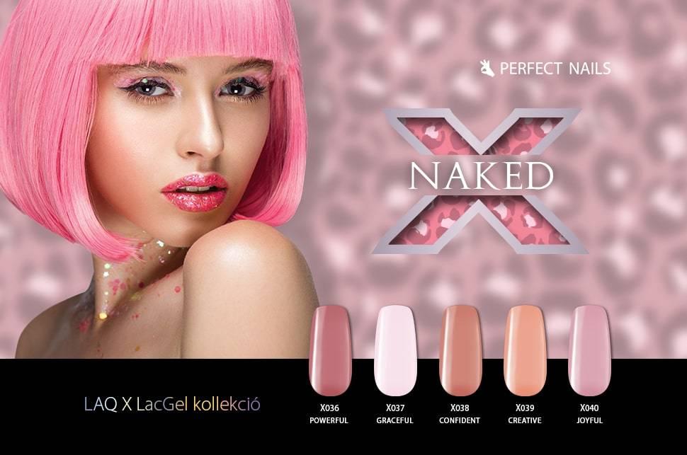 LacGel LaQ X - Naked Gél Lakk Szett