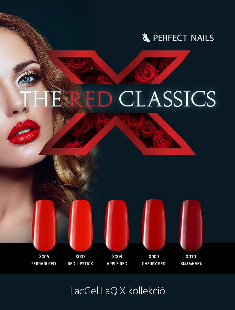 LACGEL LAQ X - THE RED CLASSICS GÉL LAKK SZETT