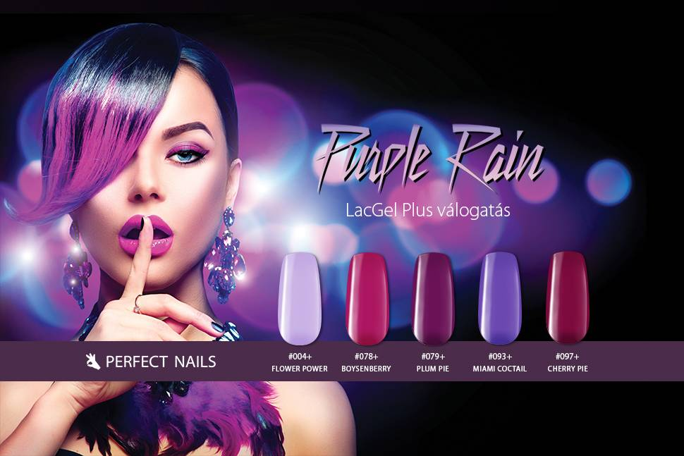 LacGel Plus Selection Purple Rain Gél Lakk szett