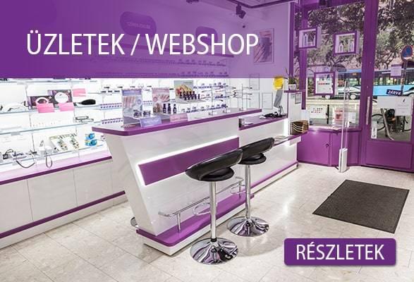 ÜZLETEK - WEBSHOP