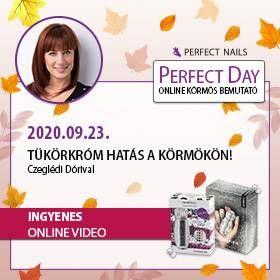Tükörkróm hatás a körmökön - Czeglédi Dórival - Perfect Day Online