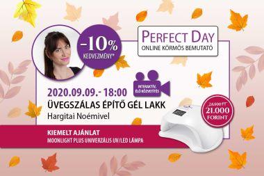 Üvegszálas építő gél lakk - Hargitai Noémivel - Perfect Day Online