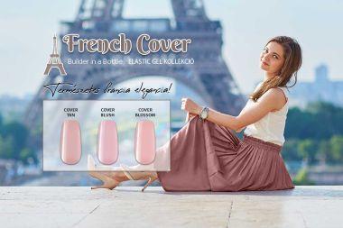 Természetes francia elegancia! - French Cover - Elastic Gel - Ecsetes Műkörömépítő Zselé Készlet