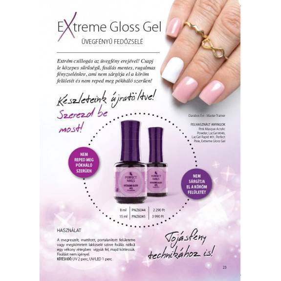 Extreme Gloss Top Gel - Fényzselé 8ml
