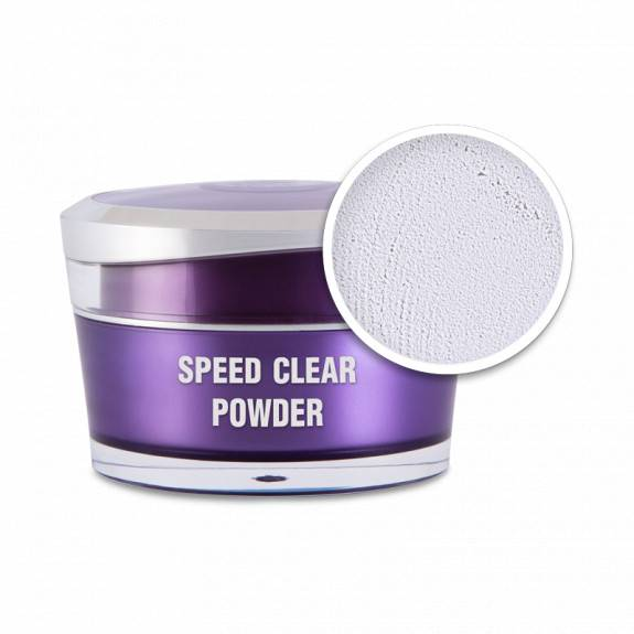 Műkörömépítő porcelánpor - Speed clear powder 5ml