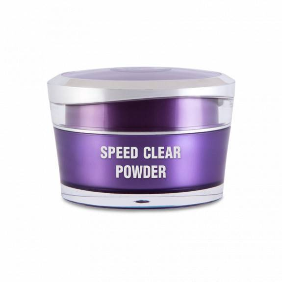 Műkörömépítő porcelánpor - Speed Clear powder 15ml